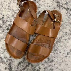 Aldo Vegan Leather Platform Sandals